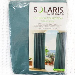 """Solaris Outdoor Curtain - Mineral Teal - 54""""x108"""""""